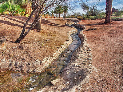 Photograph - Papago Park Stream by C H Apperson