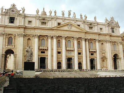 Photograph - Papal Basilica Of St. Peter by Ellen Henneke