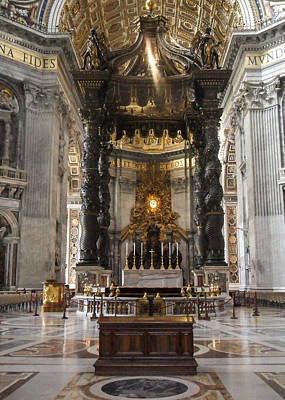 Photograph - Papal Basilica Of St. Peter In The Vatican by Silvia Bruno