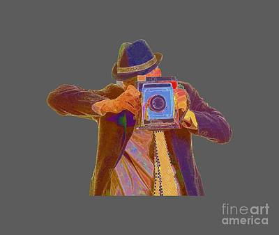 Paparazzi Tee Art Print by Edward Fielding