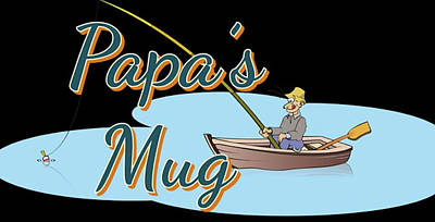 Digital Art - Papa's Mug by Clive Littin