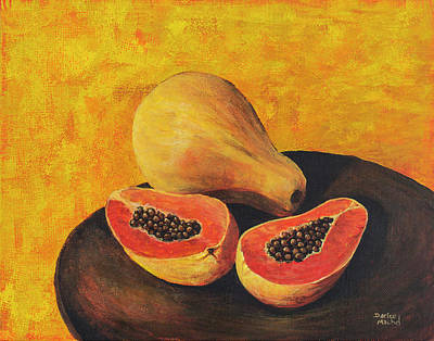 Painting - Papaya  by Darice Machel McGuire