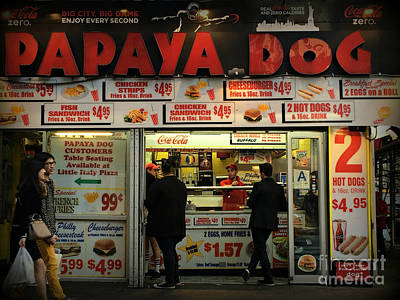 Photograph - Papaya Dog - Restaurants Of New York City by Miriam Danar