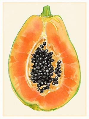 Painting - Papaya by Judith Kunzle