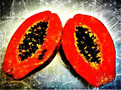 Mixed Media - Papaya On My Mind by Leanne Seymour