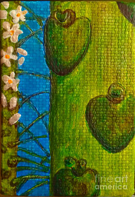 Painting - Papaya Plant And Flowers by Jennifer Bright
