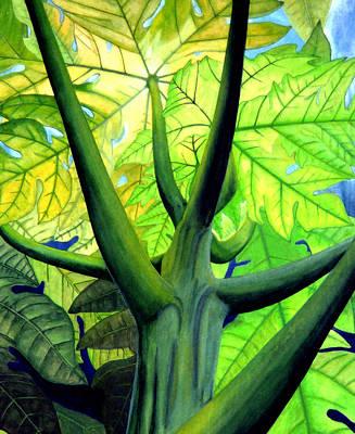 Kevin Painting - Papaya Tree by Kevin Smith