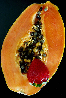 Photograph - Papaya With Strawberry by David Pantuso