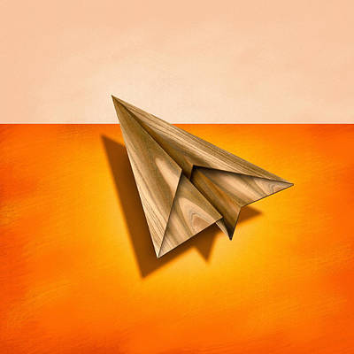 Animal Paintings David Stribbling Royalty Free Images - Paper Airplanes of Wood 18 Royalty-Free Image by YoPedro