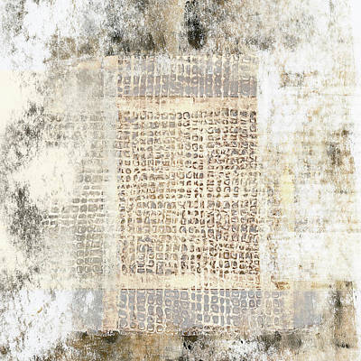 Mixed Media - Paper And Cement Texture by Carol Leigh