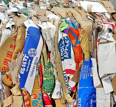 Photograph - Paper And Old Boxes Ready For Recycling by Yali Shi