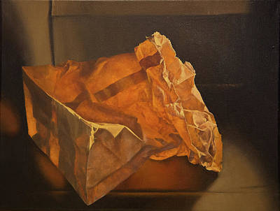 Painting - Glowing Paper Bag by Rebecca Giles