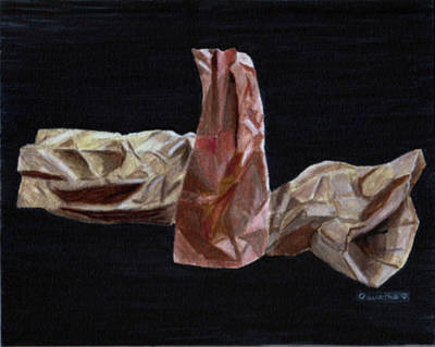 Drawing - Paper Bags by Quwatha Valentine