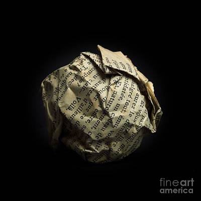 Trash Photograph - Paper by Bernard Jaubert