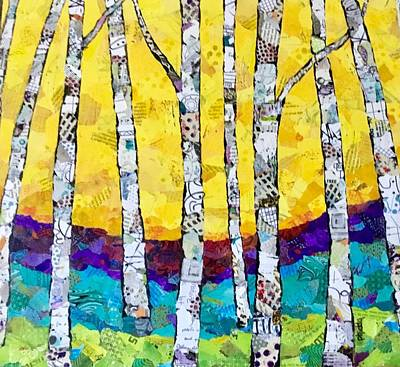 Painting - Paper Birch 2 by Phiddy Webb