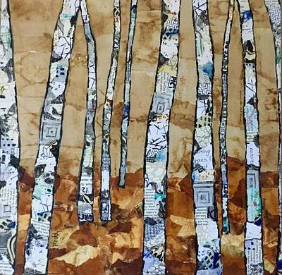 Painting - Paper Birch 3 by Phiddy Webb