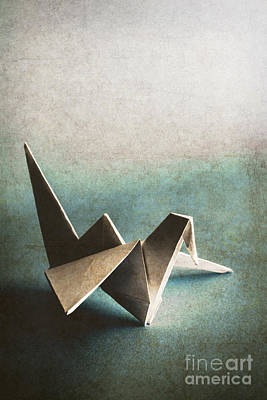 Handmade Photograph - Paper Bird On Abstract Background by Jorgo Photography - Wall Art Gallery