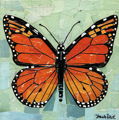 Mixed Media - Paper Butterfly - Monarch by Shawna Rowe