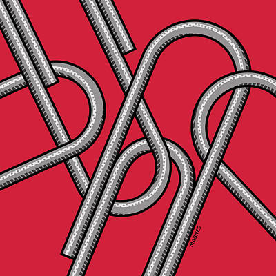 Digital Art - Paper Clips by Ron Magnes