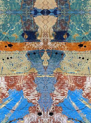 Digital Art - Paper Collage Kaleidoscope 2 by Kate Word