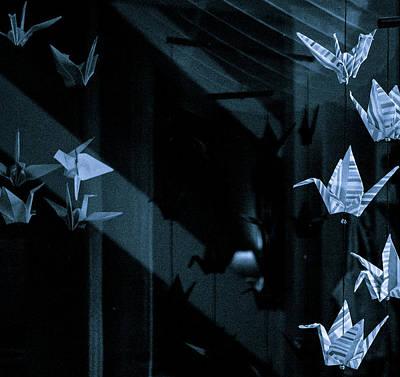 Photograph - Paper Cranes by Jocelyn Kahawai