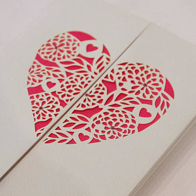 Paper Cut Heart Art Print
