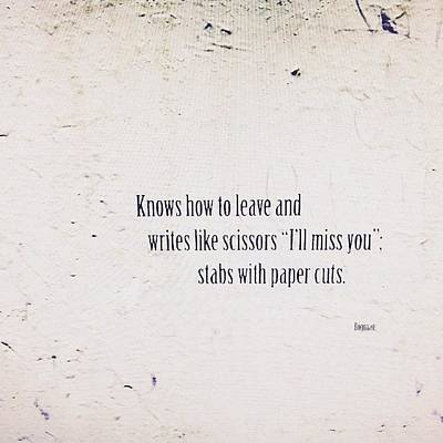 Poetry Photograph - Paper Cuts   by Steven Digman