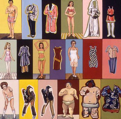 Clothes Mixed Media - Paper Dolls by Karl Frey