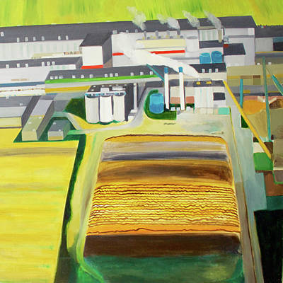 Shed Painting - Paper Factory by Toni Silber-Delerive