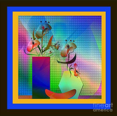 Digital Art - Paper Flowers 2 by Iris Gelbart