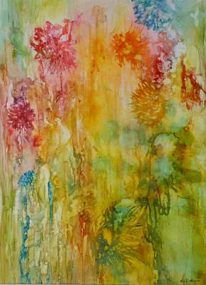Painting - Paper Flowers by Rosie Brown