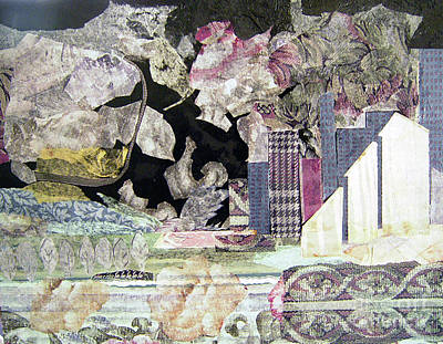Mixed Media - Cityscape by Sandy McIntire