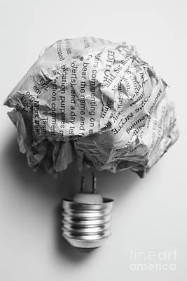 Photograph - Paper Light Bulb by Jorgo Photography - Wall Art Gallery