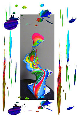 Digital Installation Art Photograph - Paper Mache Design 2 Of 2 by Tina M Wenger