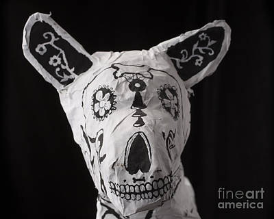 Mixed Media - Paper Mache Dog by Caffrey Fielding