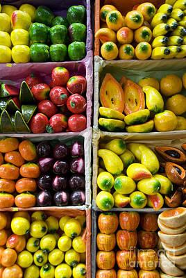 Paper Mache Photograph - Paper Mache Fruits by Gloria & Richard Maschmeyer - Printscapes