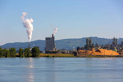 Wall Art - Photograph - Paper Mill Along Columbia River by David Gn