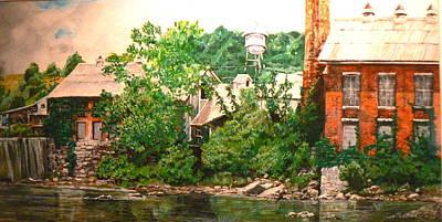 Paper Mill Art Print by Thomas Akers