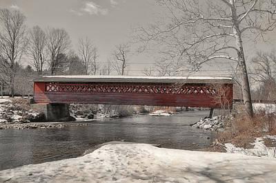 Paper Mill Village Bridge Art Print by JAMART Photography