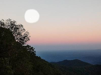 Photograph - Paper Moon Over Blue Ridge by Kathy Barney