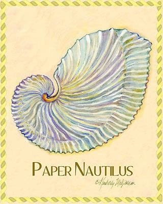 Paper Nautilus Art Print by Kimberly McSparran