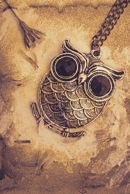 Digital Art - Paper Pendant Owl by Jorgo Photography - Wall Art Gallery