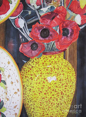 Painting - Paper Poppies by Carol Flagg