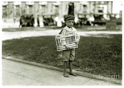 Paper Boy Photograph - Paper Says It's Dry by Jon Neidert
