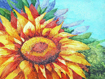 Painting - Paper Sun by Diane Fujimoto