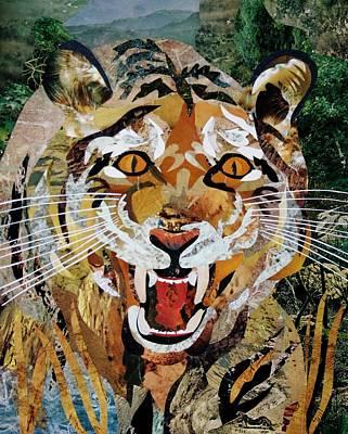 Mixed Media - Paper Tiger by Bob Craig
