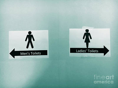 Toilet Photograph - Paper Toilet Signs by Tom Gowanlock