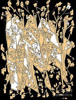 Op Art Mixed Media - Paper Trails by Nancy Kane Chapman