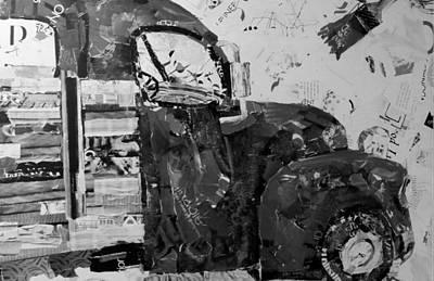 Photograph - Paper Truck Dark B W by Rob Hans