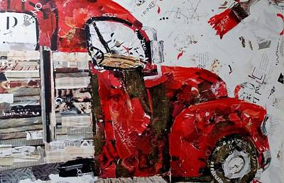 Photograph - Paper Truck Red by Rob Hans